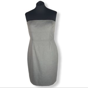 Gray Strapless Banana Republic Dress Size 12